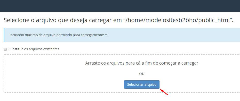 B2B Host - Tutorial de como instalar o WordPress - Passo 7.