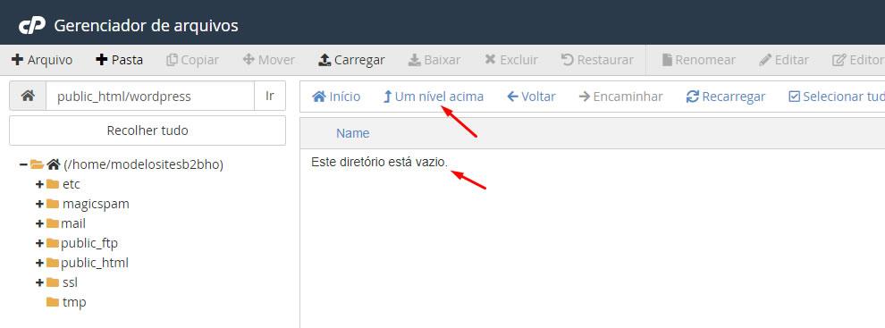 B2B Host - Tutorial de como instalar o WordPress - Passo 17.